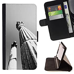 DEVIL CASE - FOR Samsung Galaxy S5 V SM-G900 - Architecture Ancient Rome Pillars - Style PU Leather Case Wallet Flip Stand Flap Closure Cover
