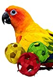 """1238 3 Pack Colored Natural Bamboo Balls 2"""" Bird Toys Parrot Foraging Foot Craft Part Talon"""