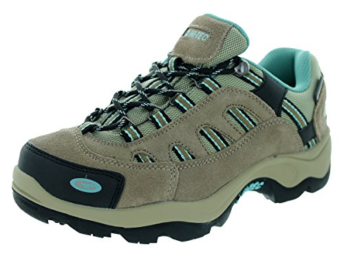 UPC 090641337672, Hi-Tec Womens Taupe/Dusty Mint Leather Bandera Low WP Hiking Shoes 9M