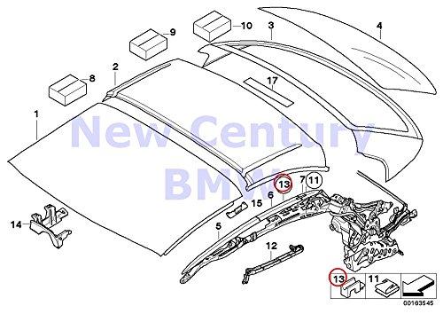 BMW Genuine Hardtop Retractable Hardtop Roof Rail Mounting Kit 328i 335i M3 328i 335i 335is M3 428i 428iX 435i 435iX M4 ()