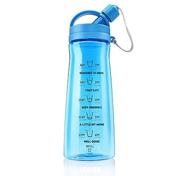 XL Botella de Agua Deporte Plastico Reutilizable Botella Deportiva Grande Botella de Libre sin BPA para Gimnasio, Deportes, Fitness, Bicicleta, Fútbol ...