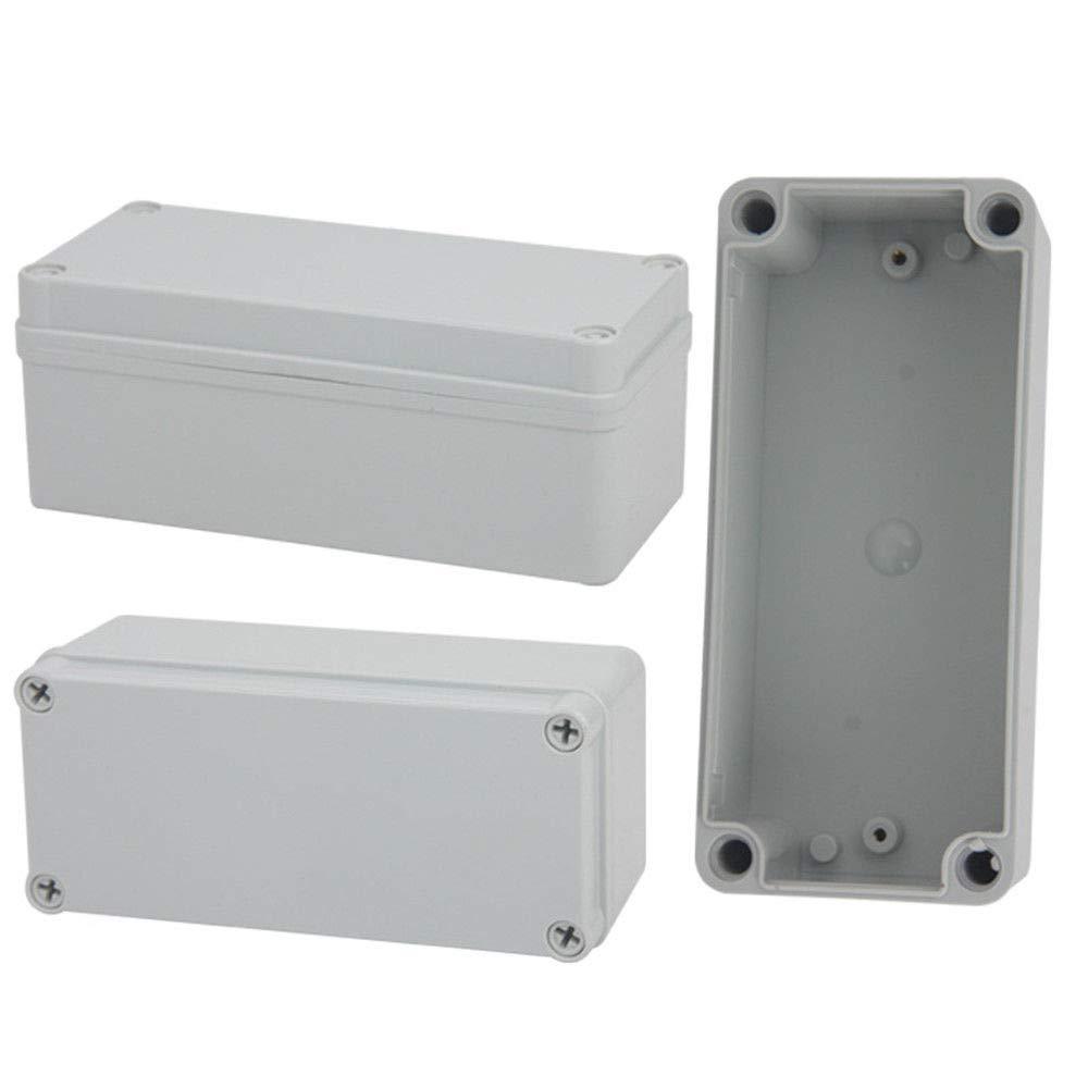 blanco Carcasa de pl/ástico MASO IP65 ABS blanco resistente a la intemperie exterior//caja de conexiones de alimentaci/ón externa completa con conector
