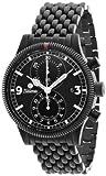 Tutima Grand Classic Chrono Black 43mm Watch - Black Dial, PVD Bracelet 781-32