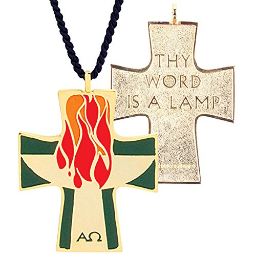 "2 1/4"" Gold Plated Lector Cross Pendant M-24 -  Terra Sancta Guild"