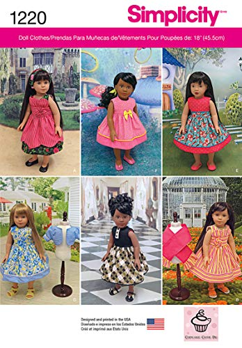 Simplicity Creative Patterns 1220 18-Inch Doll Clothes, OS (ONE SIZE) (Book Pattern Doll)