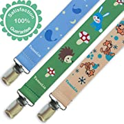 TaneeLia Pacifier Clip - Universal Binky Soothie Holder Clips For All Types of Pacifiers, Soothers, Teething Toys