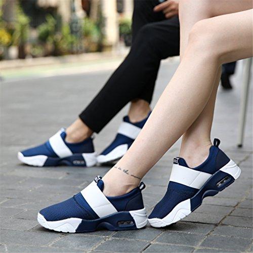 on Blau Wanderschuhe Schuhe Laufschuhe Turnschuhe LANYIER Slip Herren Atmungsaktiv A Sneaker Damen Leichte Sportschuhe nCwTOxqOBP