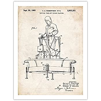 """unframed FLYING SAUCER US AIR FORCE AIRCRAFT UFO ALIEN PATENT POSTER 18X24/"""""""