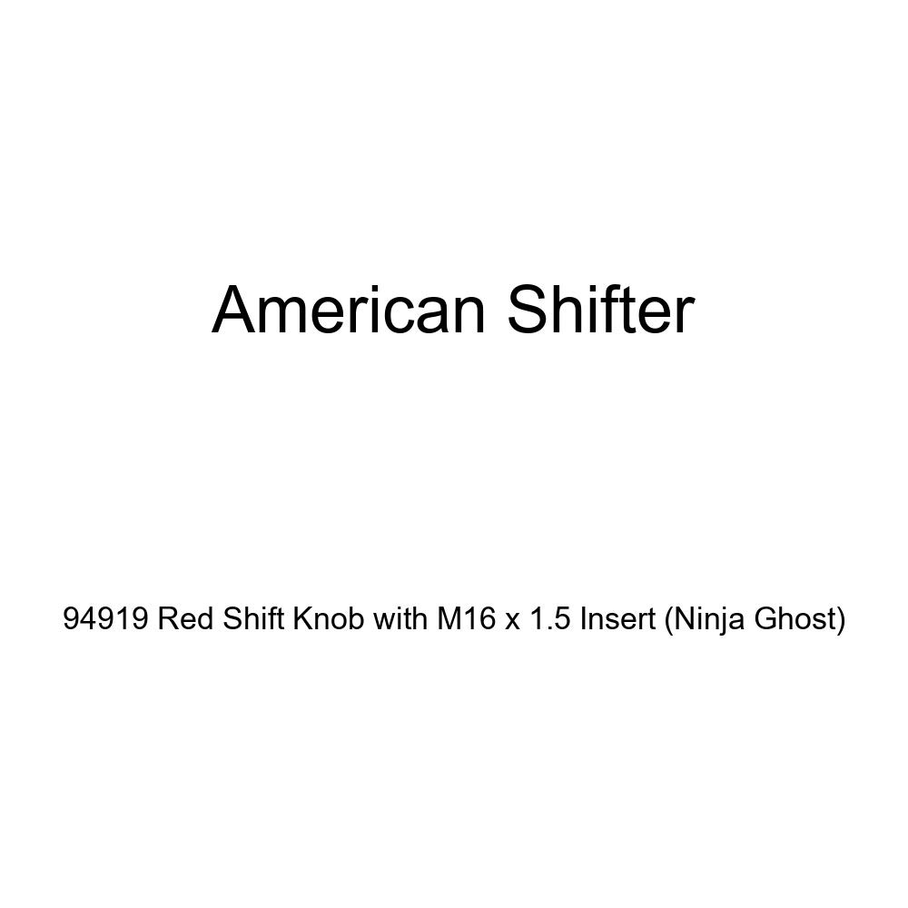American Shifter 94919 Red Shift Knob with M16 x 1.5 Insert Ninja Ghost