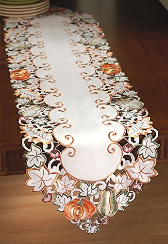 Autumn Harvest Diecut Decorative Table Linens, Runner (Centerpiece Thanksgiving)