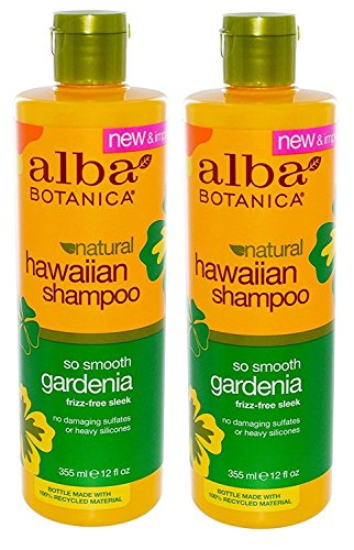 Alba Botanica, Natural Hawaiian Shampoo, So Smooth Gardenia, 12 fl oz (355 ml) - 2pc