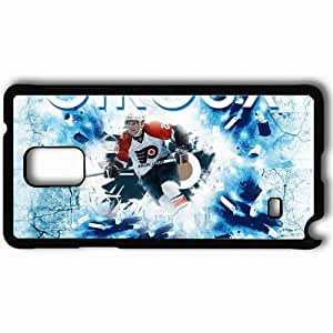 Personalized Samsung Note 4 Cell phone Case/Cover Skin 15217 Claude Giroux Poster by dan51390 Black