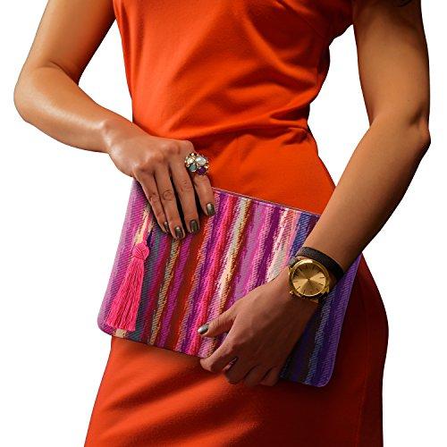 Ultra Multiple Purple Purse Cards Otto Slots Women��s Fashion Abstract Clutch Slim Smartphone Money RARfqwzI