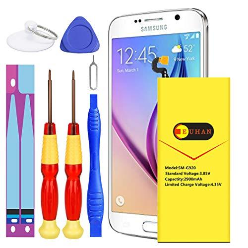 Galaxy S6 Battery, Euhan 2900mAh Li-Polymer Internal Replacement Battery EB-BG920ABE for Samsung Galaxy S6 G920A G920P G920T G920V with Repair Replacement Kit Tools [24 Month Warranty] (Sprint Galaxy S6)