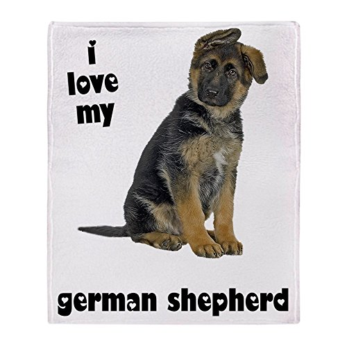 CafePress - German Shepherd Love - Soft Fleece Throw Blanket, 50
