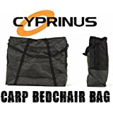 Cyprinus Green Large heavy duty carp fishing bedchair bed chair bag with padded Straps