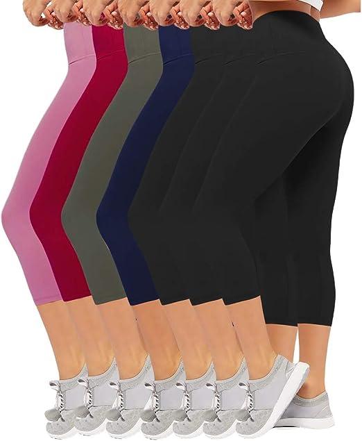 Womens Elastic Stretch Yoga Pilates Sport High Waist Super Soft Shorts Legging