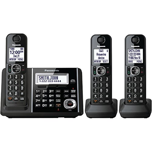 Panasonic KXTGF343B Dect 3-Handset Landline Telephone