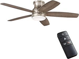 Home Decorators Collection Ashby Park 52 in. Integrated LED Brushed Nickel Ceiling Fan with Light Kit and Remote Control Color Changing Technology