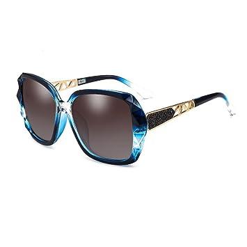 107ef91c0c CJC Gafas de sol Polarizado Tonos de mujer Clásico Sobredimensionado 100%  de protección UV Protección UV400 ( Color : Azul ): Amazon.es: Hogar