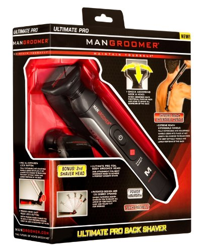 MANGROOMER - ULTIMATE PRO Back Hair Shaver with 2 Shock Absorber Flex Heads, Power Hinge, Extreme Reach Handle and Power Burst by MANGROOMER (Image #26)