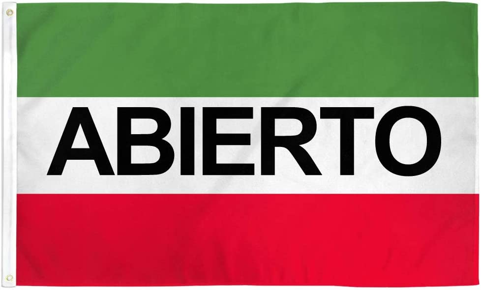 Infinity Republic Abierto 3x5 ft Flag Polyester Restaurants Perfect for Businesses Dealerships etc!