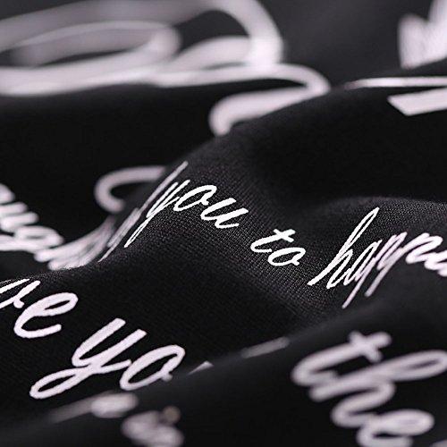 dimensioni 4XL Stagione Vestito Printing Nero Abito Primaverile Signora O In Grandi Manica XXXXL Gonna WYYY XL Maglia Dimensioni Di Colletto Corta Lunga qBp4FRwxw