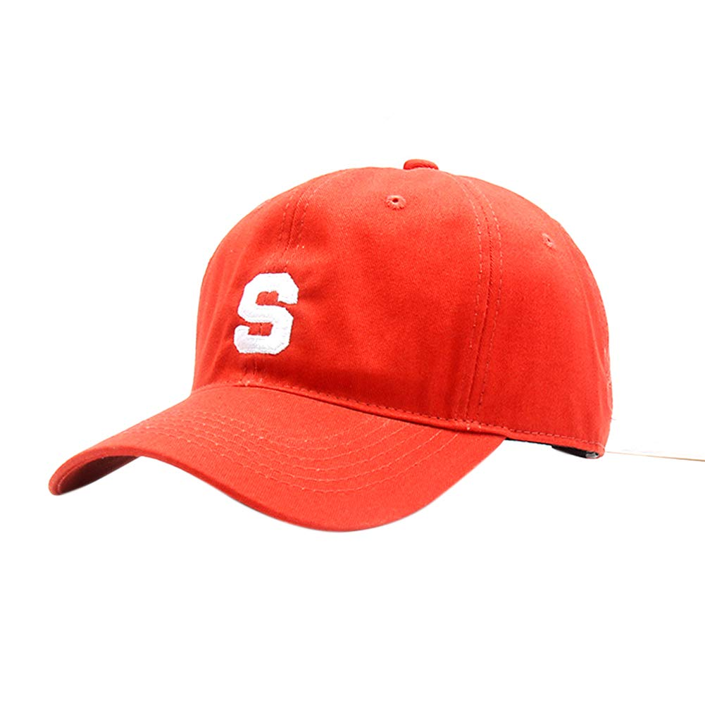 Gorra de b/éisbol Estilo Vintage Top Blando ala en /ángulo Letra S Bordado Ajustable Sombreros de Pico