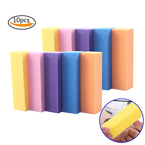 Teenitor Nail Buffer Block 4 Way Nail File Buffing Sanding Buffer for Home Professional Manicure Pedicure Kit 10pcs (Manicure Pack)