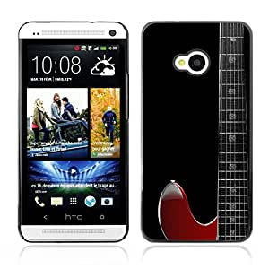 Graphic4You Red Guitar Music Instrument Design Hard Case Cover for HTC One (M7)