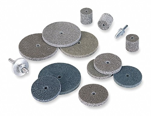 2'' Deburring and Finishing Unitized Wheel, 1/4'' W, 1/4'' Mounting Size, Very Fine Aluminum Oxide,pack of 5 by Norton Abrasives - St. Gobain