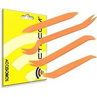 actecom® Kit de 4 Herramientas para Desmontar el salpicadero Radio Coche Panel Frontal