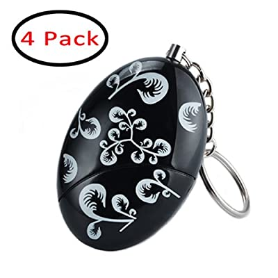 4 Pack 120dB Emergency Personal Alarm Keychain for Women,Kids,Girls,Superior,Explorer Self Defense Electronic Device Bag Decoration