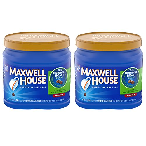 Maxwell House Original Decaf Ground Coffee, 29.3 oz Can (Pack of 2)