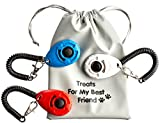 BusyBee Pet Dog Cat Clicker (3 pack) with Treat...