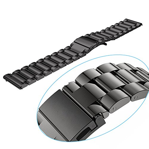Cbin Quick Release Bracelet - Width 16mm / 18mm / 20mm / 22mm / 24mm Stainless Steel Strap Wrist Band Replacement Watch Bands (Black, 22mm) by cbin (Image #3)