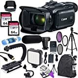 Canon Vixia HF G50 UHD 4K Camcorder with Premium Accessory Kit Including Padded Backpack, Microphone, Video Light & 128GB High Speed U3 Memory