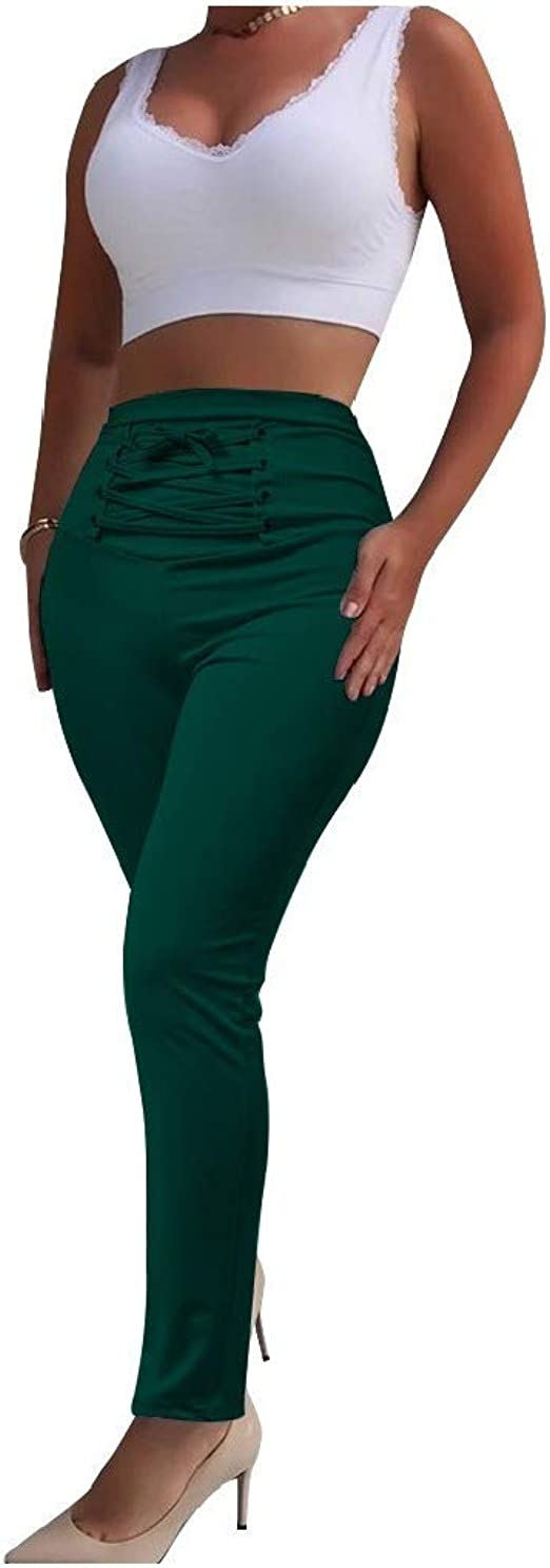 VITryst Womens Athletic Fit Relaxed-Fit Criss Cross Solid Pull-on Pants