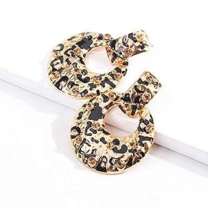 Gespout Women's Bohemian Leopard Print Dangle Earrings Jewellery Accessories Beach Travel Birthday Gift, Style 1, 4 * 5.3cm