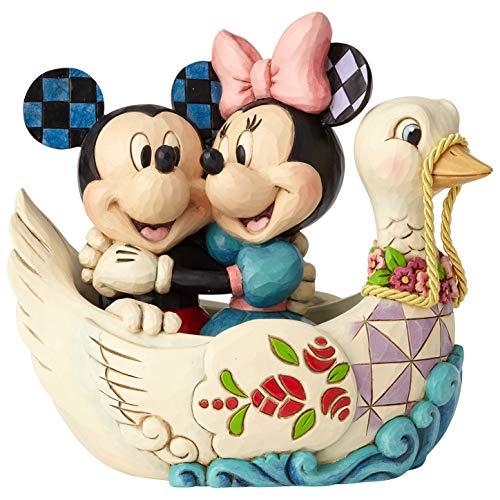 Enesco Disney Traditions by Jim Shore Mickey and Minnie Lovebirds Figurine, 5.38 , Multicolor