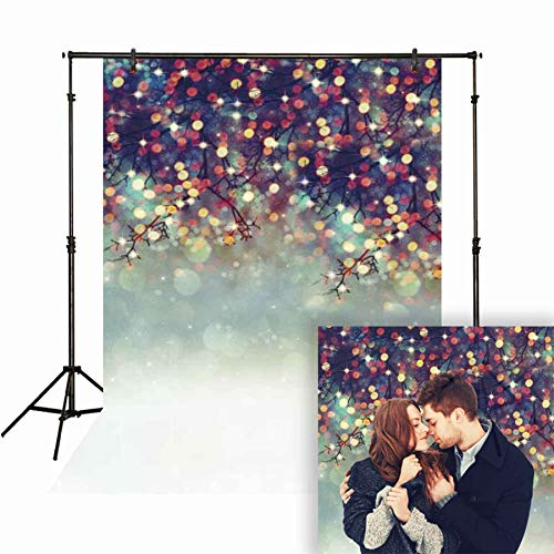 Funnytree 5x7ft Colorful Bokeh Spots (Not Glitter) Photography Backdrops Abstract Lights Branch Background Newborn Baby Party Banner Professional Portrait Photo Studio Photobooth Props]()