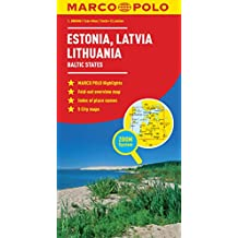 Estonia, Latvia, Lithuania Marco Polo Map (Baltic States)