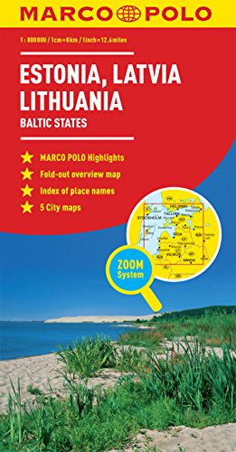 Estonia, Latvia, Lithuania Marco Polo Map (Baltic States) (Marco Polo Guide)