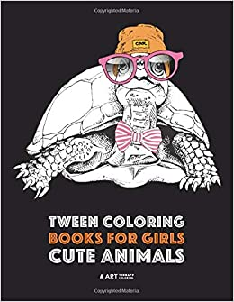 tween coloring books for girls cute animals colouring book for teenagers young adults boys girls ages 9 12 13 16 detailed designs for
