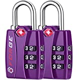 Forge TSA Lock Purple 2 Pack - Open Alert Indicator, Easy Read Dials, Alloy Body