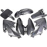 hmparts Amortiguador MOTO / Moto Cross Top revestimiento Set NUEVO TIPO 1 Carbono Estilo