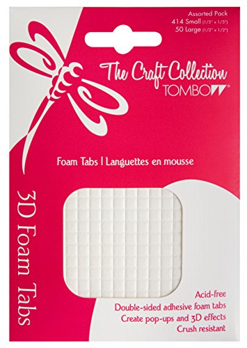 Tombow Foam Tabs, White, 50-Pieces (52129) (Tombow Craft Collection)