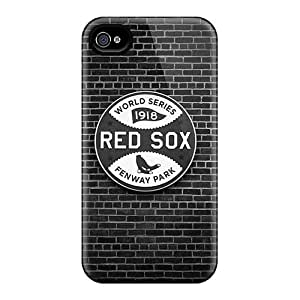 Durable Defender Case For Apple Iphone 4/4S Tpu Cover(Boston Red Sox)
