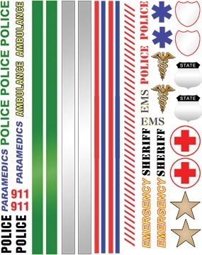 Police Emergency Pinewood Derby Car Decals By Abc