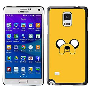 Plastic Shell Protective Case Cover || Samsung Galaxy Note 4 SM-N910 || Comic Character Eyes Dog @XPTECH
